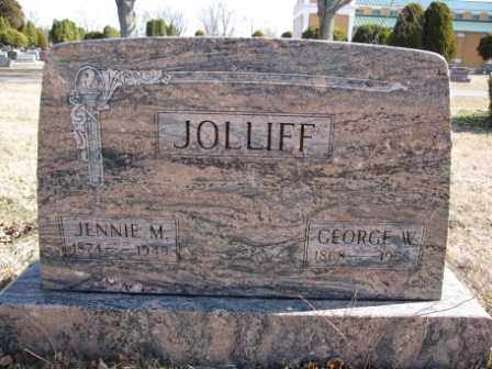 JOLLIFF, JENNIE M. - Union County, Ohio | JENNIE M. JOLLIFF - Ohio Gravestone Photos