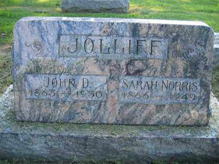 JOLLIFF, SARAH NORRIS - Union County, Ohio | SARAH NORRIS JOLLIFF - Ohio Gravestone Photos
