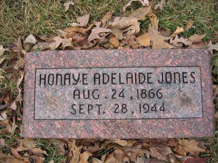 JONES, HONAYE ADELAIDE - Union County, Ohio | HONAYE ADELAIDE JONES - Ohio Gravestone Photos