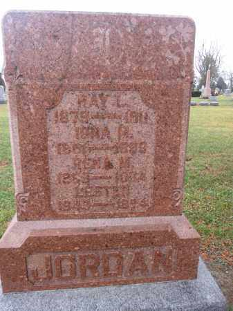 JORDAN, RAY L. - Union County, Ohio | RAY L. JORDAN - Ohio Gravestone Photos