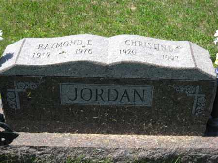 JORDAN, CHRISTINE - Union County, Ohio | CHRISTINE JORDAN - Ohio Gravestone Photos