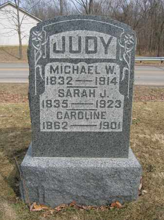 JUDY, SARAH J. - Union County, Ohio | SARAH J. JUDY - Ohio Gravestone Photos