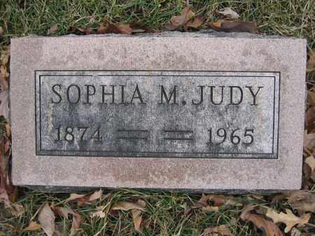 JUDY, SOPHIA M. - Union County, Ohio | SOPHIA M. JUDY - Ohio Gravestone Photos