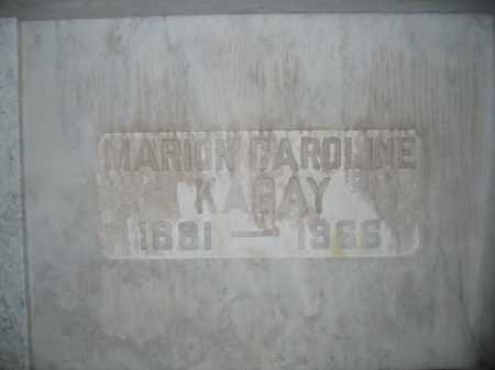 KAGAY, MARION CAROLINE - Union County, Ohio | MARION CAROLINE KAGAY - Ohio Gravestone Photos