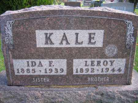 KALE, IDA F. - Union County, Ohio | IDA F. KALE - Ohio Gravestone Photos