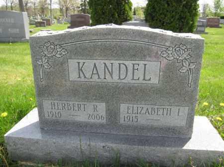 KANDEL, ELIZABETH L. - Union County, Ohio | ELIZABETH L. KANDEL - Ohio Gravestone Photos