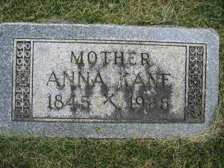 KANE, ANNA - Union County, Ohio | ANNA KANE - Ohio Gravestone Photos