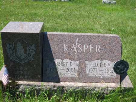 KASPER, ROBERT D. - Union County, Ohio | ROBERT D. KASPER - Ohio Gravestone Photos