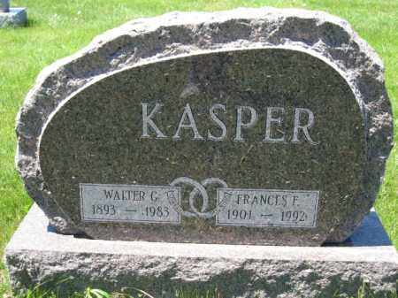 KASPER, FRANCES F. - Union County, Ohio | FRANCES F. KASPER - Ohio Gravestone Photos