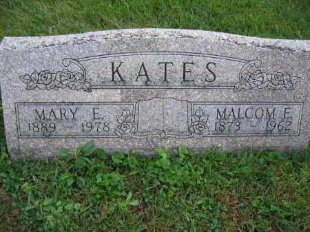 KATES, MALCOME E. - Union County, Ohio | MALCOME E. KATES - Ohio Gravestone Photos