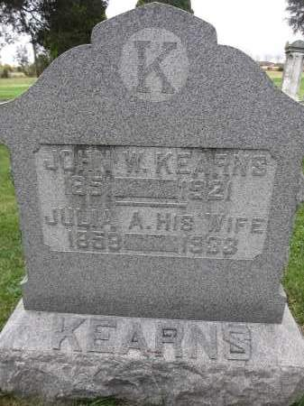 KEARNS, WILLIAM - Union County, Ohio | WILLIAM KEARNS - Ohio Gravestone Photos