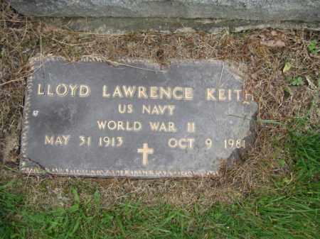 KEITH, LLOYD LAWRENCE - Union County, Ohio | LLOYD LAWRENCE KEITH - Ohio Gravestone Photos