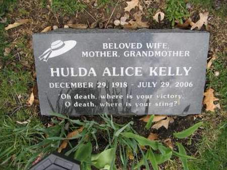 KELLY, HULDA ALICE - Union County, Ohio | HULDA ALICE KELLY - Ohio Gravestone Photos