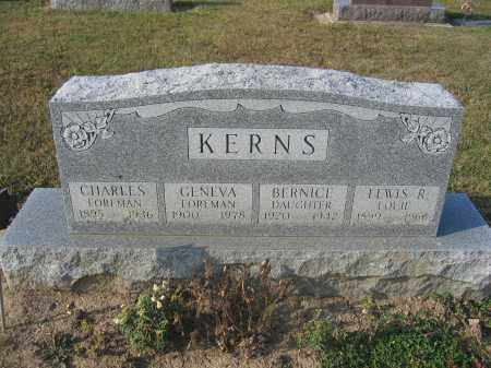 KERNS, CHARLES FOREMAN - Union County, Ohio | CHARLES FOREMAN KERNS - Ohio Gravestone Photos