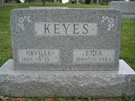 KEYES, ETTA - Union County, Ohio | ETTA KEYES - Ohio Gravestone Photos