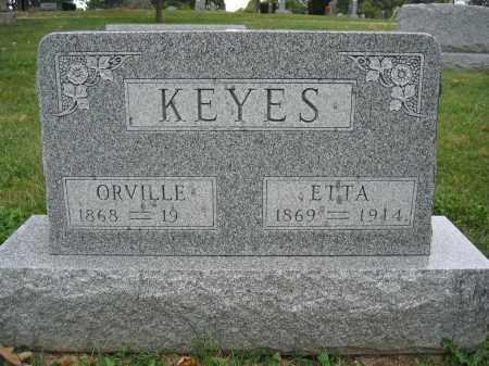 KEYES, ORVILLE - Union County, Ohio   ORVILLE KEYES - Ohio Gravestone Photos