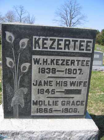 KEZERTEE, JANE - Union County, Ohio | JANE KEZERTEE - Ohio Gravestone Photos