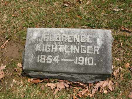 KIGHTLINGER, FLORENCE - Union County, Ohio | FLORENCE KIGHTLINGER - Ohio Gravestone Photos