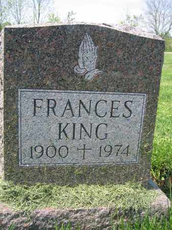 KING, FRANCES - Union County, Ohio | FRANCES KING - Ohio Gravestone Photos