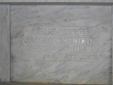 KINIKIN, ANNIE - Union County, Ohio | ANNIE KINIKIN - Ohio Gravestone Photos