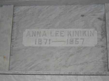 KINIKIN, ANNA LEE - Union County, Ohio | ANNA LEE KINIKIN - Ohio Gravestone Photos