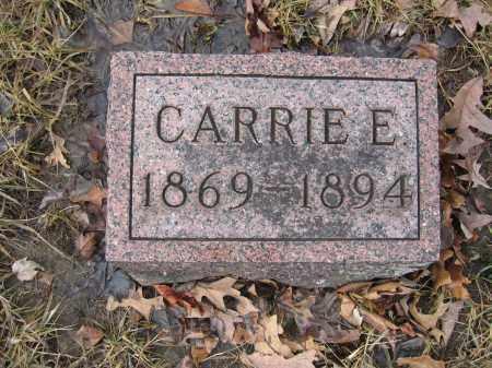 KINNEY, CARRIE E. - Union County, Ohio | CARRIE E. KINNEY - Ohio Gravestone Photos