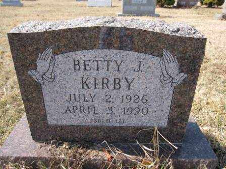 KIRBY, BETTY J. - Union County, Ohio | BETTY J. KIRBY - Ohio Gravestone Photos