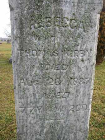 KIRBY, REBECCA SHINABERRY - Union County, Ohio | REBECCA SHINABERRY KIRBY - Ohio Gravestone Photos