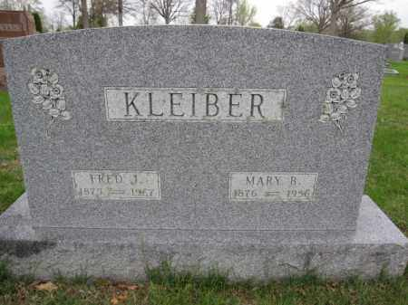 KLEIBER, MARY B. - Union County, Ohio | MARY B. KLEIBER - Ohio Gravestone Photos