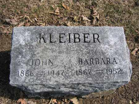 KLEIBER, BARBARA - Union County, Ohio | BARBARA KLEIBER - Ohio Gravestone Photos