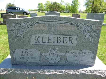 KLEIBER, ANNA BARBARA - Union County, Ohio | ANNA BARBARA KLEIBER - Ohio Gravestone Photos