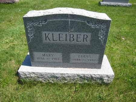 KLEIBER, MARY - Union County, Ohio | MARY KLEIBER - Ohio Gravestone Photos