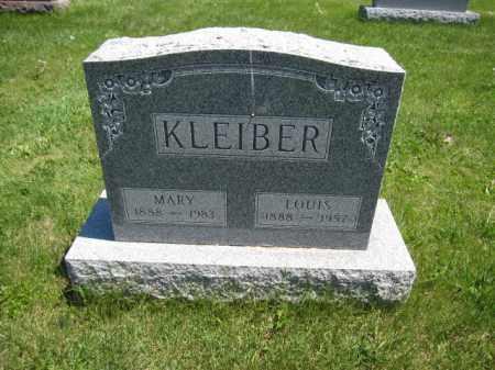 KLEIBER, MARY - Union County, Ohio   MARY KLEIBER - Ohio Gravestone Photos