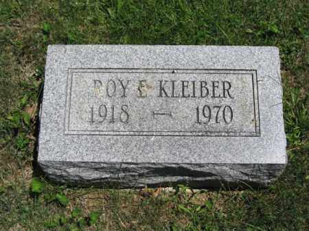 KLEIBER, ROY E. - Union County, Ohio | ROY E. KLEIBER - Ohio Gravestone Photos