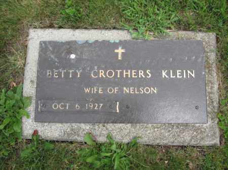 KLEIN, BETTY CROTHERS - Union County, Ohio | BETTY CROTHERS KLEIN - Ohio Gravestone Photos