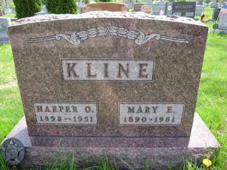 KLINE, MARY E. - Union County, Ohio | MARY E. KLINE - Ohio Gravestone Photos