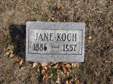 KOCH, JANE - Union County, Ohio | JANE KOCH - Ohio Gravestone Photos