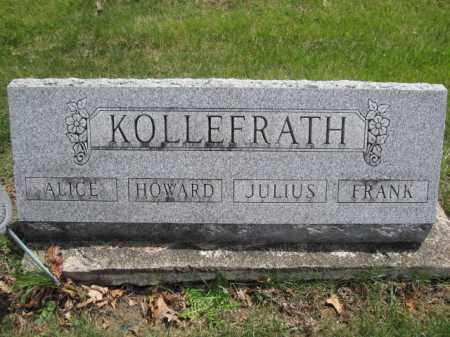 KOLLEFRATH, JULIUS - Union County, Ohio | JULIUS KOLLEFRATH - Ohio Gravestone Photos