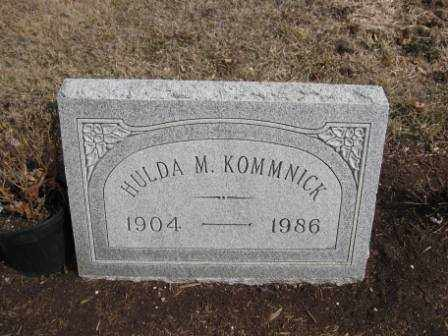 KOMMNICK, HULDA M. - Union County, Ohio | HULDA M. KOMMNICK - Ohio Gravestone Photos