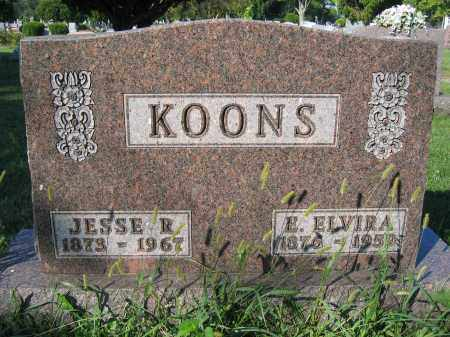 KOONS, E. ELVIRA - Union County, Ohio | E. ELVIRA KOONS - Ohio Gravestone Photos