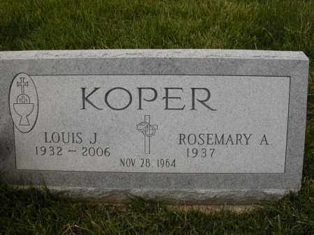 KOPER, LOUIS J - Union County, Ohio | LOUIS J KOPER - Ohio Gravestone Photos