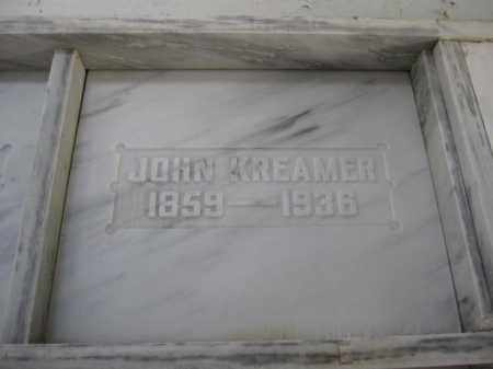KREAMER, JOHN - Union County, Ohio | JOHN KREAMER - Ohio Gravestone Photos
