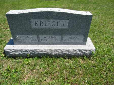 KRIEGER, ANNA - Union County, Ohio | ANNA KRIEGER - Ohio Gravestone Photos