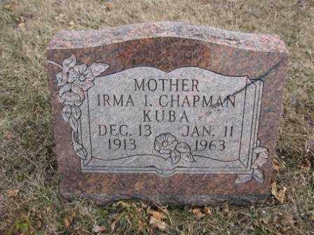 KUBA, IRMA I. CHAPMAN - Union County, Ohio | IRMA I. CHAPMAN KUBA - Ohio Gravestone Photos
