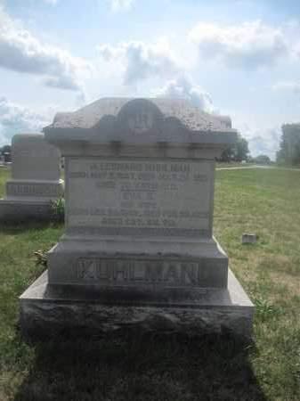 KUHLMAN, J. LEONARD - Union County, Ohio | J. LEONARD KUHLMAN - Ohio Gravestone Photos