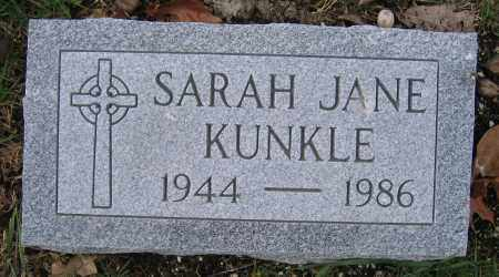 KUNKLE, SARAH JANE - Union County, Ohio | SARAH JANE KUNKLE - Ohio Gravestone Photos