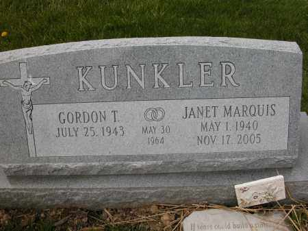 KUNKLER, JANET - Union County, Ohio | JANET KUNKLER - Ohio Gravestone Photos