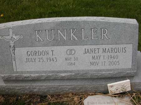 MARQUIS KUNKLER, JANET - Union County, Ohio | JANET MARQUIS KUNKLER - Ohio Gravestone Photos