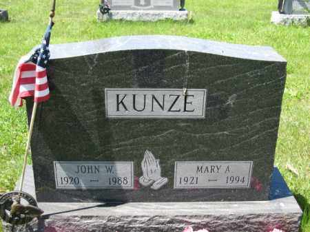 KUNZE, JOHN W. - Union County, Ohio | JOHN W. KUNZE - Ohio Gravestone Photos