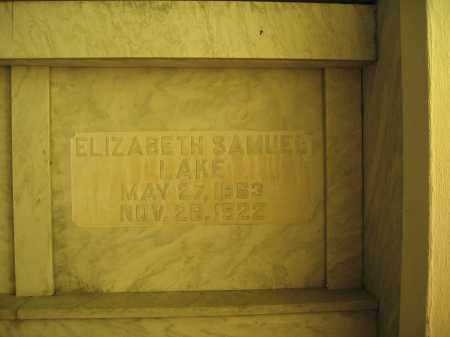 LAKE, ELIZABETH SAMUEL - Union County, Ohio | ELIZABETH SAMUEL LAKE - Ohio Gravestone Photos